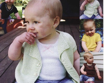 Baby Knitting Pattern - Jacket, singlet and top for Prem up to 18 months