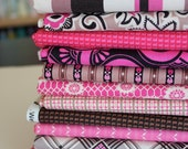 Ansonia from Denyse Schmidt, Mushroom Color-way  FQ bundle, 13 fabrics total