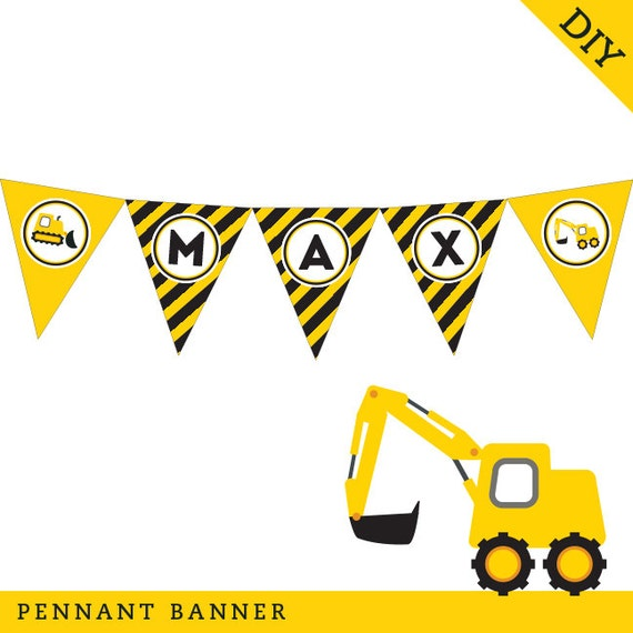 Construction Party Personalized DIY Printable By Chickabug