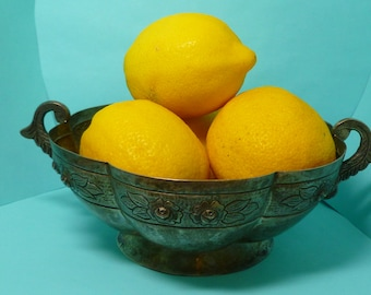 Maciel 900 Silver Hand Formed Fruit Bowl Mexican Silver