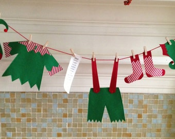 Christmas Decor, Elf Shelf, Santas Elf, Mantel Decoration, Xmas Decoration, Original Design
