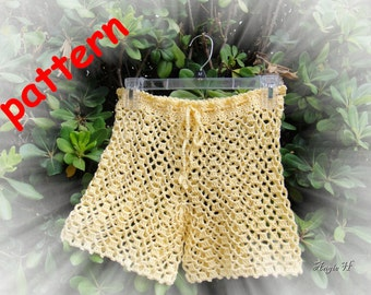 Crochet Shorts Pattern Summer shorts women shorts pattern--Instant Download