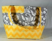 Barrel Knitting Tote with 5 Roomy Pockets for Patterns and Notions