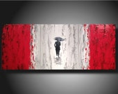Art Abstract painting Pallet Knife painting Landscape on canvas 48 taking the lead custom