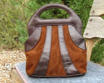 Vintage Bag Chocolate Brown Leather & Suede