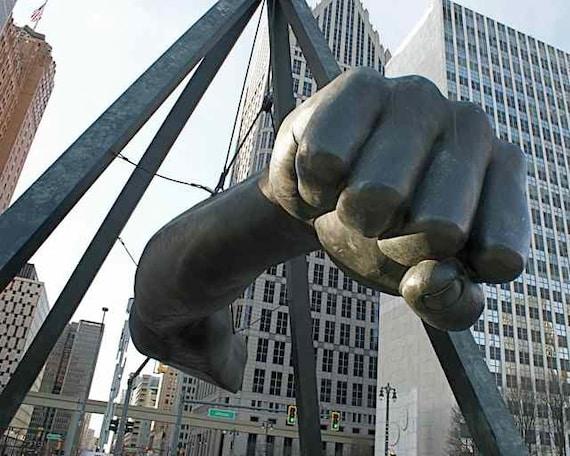 Joe louis fist statue
