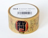 Limited Edition mt Japanese Washi Masking Tape - Tokyo Picture Scroll / Tokyo Traditional Wares (No repetition)