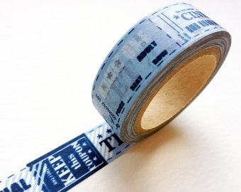2 DOLLAR SALE - Washi Tape - Cinema Tickets for packaging, scrapbooking, party favor and deco