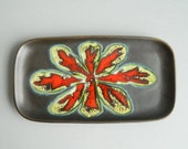 Modernist Rectangular Israel Ceramic Tray