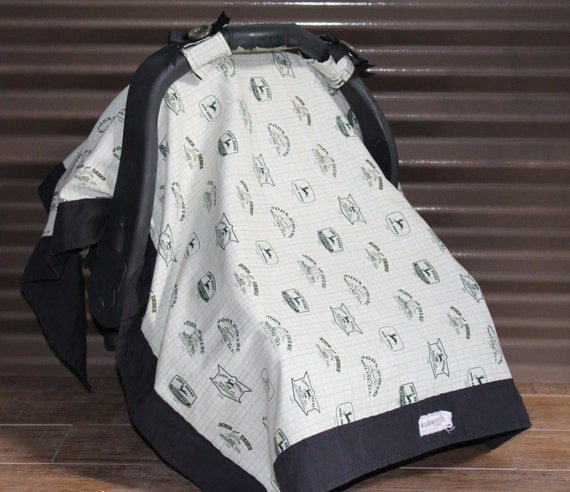 infant car seat cover john deere car seat by wadsworthboutique. Black Bedroom Furniture Sets. Home Design Ideas