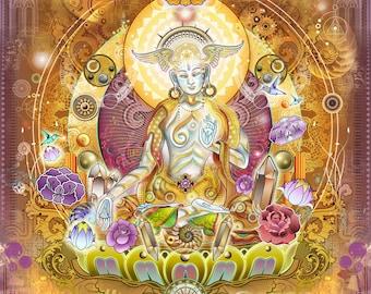 White Tara Wish- Paper Print - 11x17