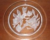 "Schmid ""The Sea"" Crystal Collector Plate France - Cristal de Sevres"