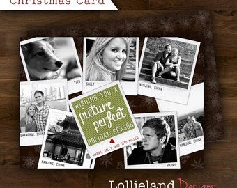 7 Photo Picture Perfect Holiday Collage Card