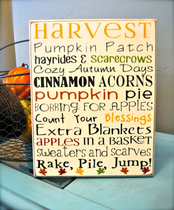 Fall harvest subway art vinyl wood sign by huckleberrycreation for Quality craft vinyl plank reviews