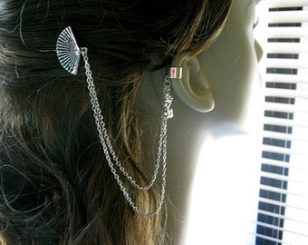 Bobby Pin Ear Cuff,  Ear Cuff, Bobby Pin, Ear Cuff Hair Comb, Dragon Ear Cuff, Fan Ear Cuff, Chain Ear Cuff, Fan Bobby Pin