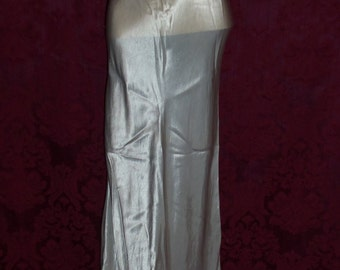 Vintage 1930s Pale Ice Blue Silk and Lace Nightgown