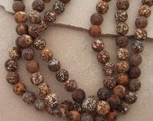 Gorgeous Matte Finish Round Jasper Beads
