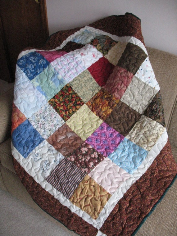 Fall Leaves Lap Size Block Quilt