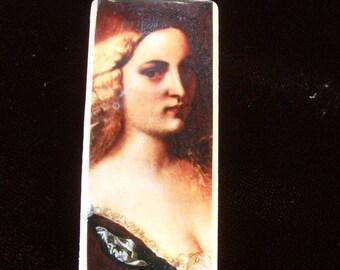 SALE Violante painting by Titian. Renaissance art. Pendant. SALE