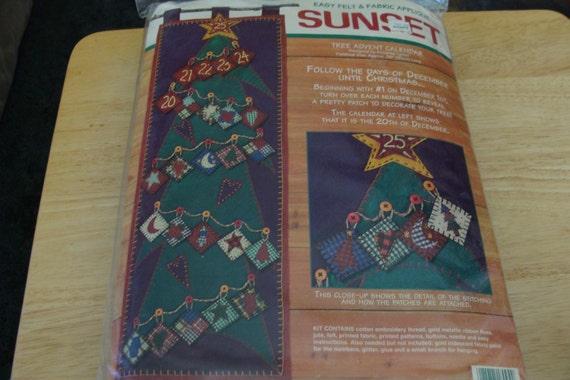 Tree Advent Calendar Kit Easy Felt & Fabric Applique 25