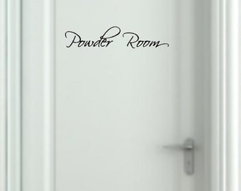 Powder Room Decal Removable Wall Sticker Bath Wall Lettering