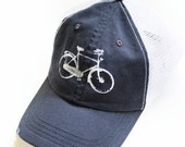 Sale - BIKE HAT - Navy Blue - Bike - Organic Cotton Hat - Eco Friendly Hat