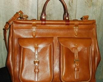 Handmade Leather Classic Grip Satchel Style (Gladstone)Travel Bag