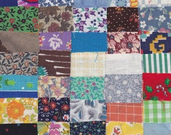 Fabric 50 Precut 1 1/4 Inch Square Pieces - Cotton Material 4 Postage Stamp - Charm Quilting Projects, Vintage Variety Pack -   EST 9