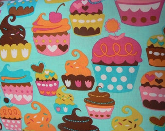 Sweet Treats Turquoise Cotton Fabric by Michael Miller - 1 Yard