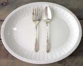Mismatched Vintage Silver Plate Serving Spoon and Serving Fork