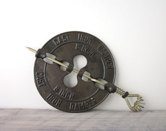 Vintage Cast Iron Damper 8 Inch