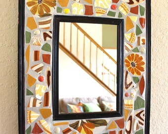 Mosaic Mirror Wall Hanging