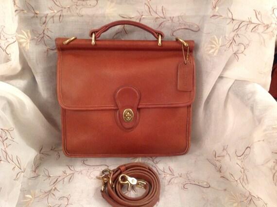 Vintage Coach Willis Bag 9927 British Tan By Ms2sweetvintage