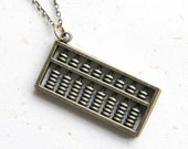 Abacus Necklace (N347) in vintage brass color