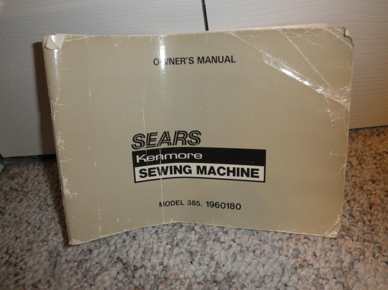 sears kenmore sewing machine manuals