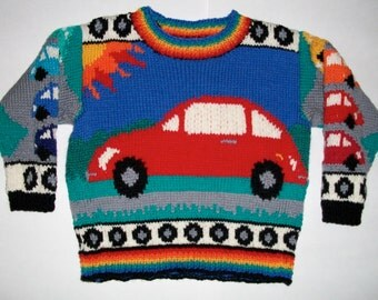 Knitting Pattern: Beetles Size Two Years