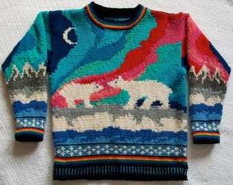 Knitting Pattern: Aurora Size Seven Years