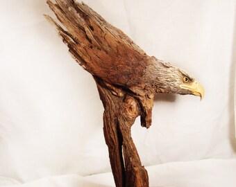 Descending Eagle Original Rick Cain Sculpture 2014