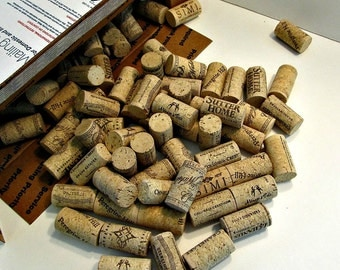 DESTASH - 100 Wine Corks - All Natural Pressed Cork, No Synthetics
