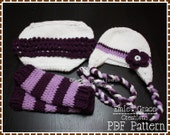Crochet Hat, Diaper Cover, Leg Warmer Patterns, HANNAH - pdf 227, 709, 703
