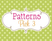 3 Crochet or knitting Patterns Savings Pack, PDF Files, Permission to Sell Finished Items, Bundle Deal