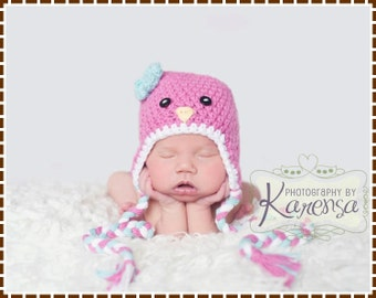 Crochet Baby Bird Hat Pattern, 8 Sizes from Newborn to Adult, SWEET TWEETS BIRDIE - pdf 110