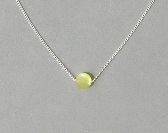 Yellow Faceted Glass Bead Necklace