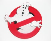 Free shipping Ghostbusters Movie Uniform Name Tag Iron On PATCH 7.5x7.5 cm