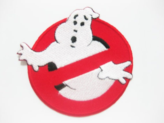 Free shipping Ghostbusters Movie Custom Uniform Name Tag Iron On PATCH 7.5x7.5 cm