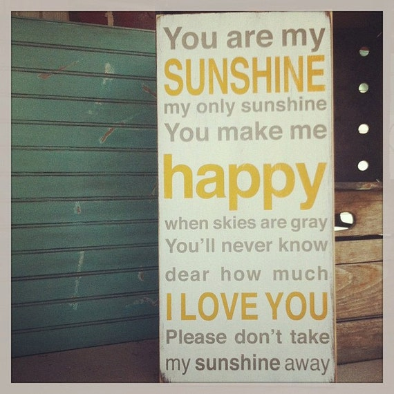 You Are My Sunshine Sign Typography Word Art  -  Choose Your Color