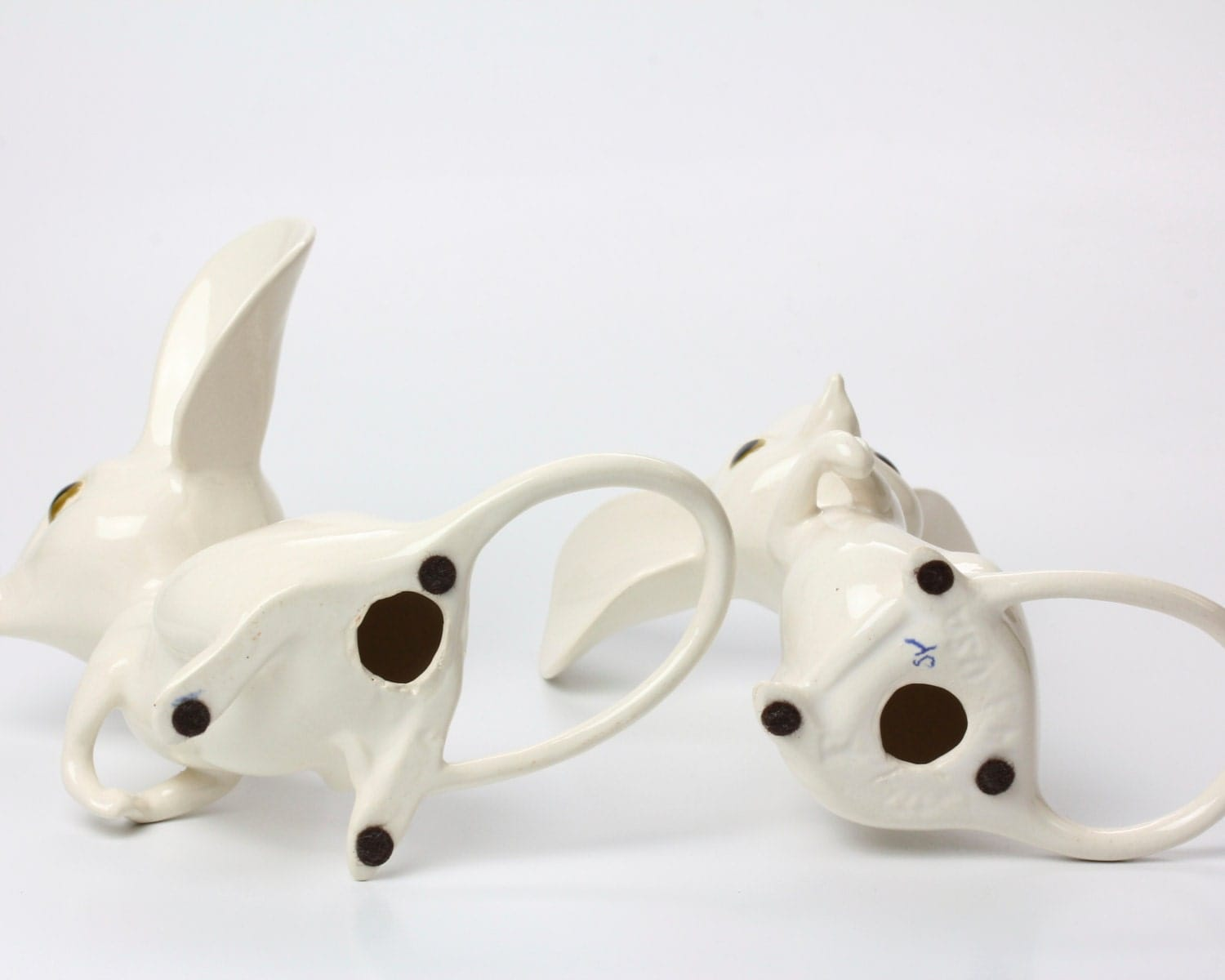 Mr And Mrs Mouse White Ceramic Figurines Perfect Wedding