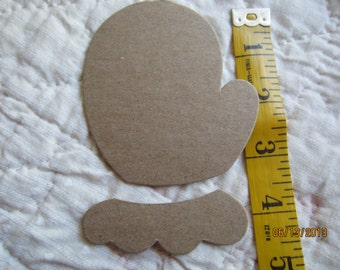 Kids Craft Kits-DIY Mitten Kits-Blank Chipboard Mittens-Shapes for Decorating-Raw Unfinished Chipboard-Country Hand Print Shapes