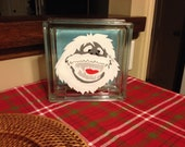 Bumble Hand Painted Glass Block
