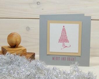 Cross Stitch Tree Olive Wood Stamp